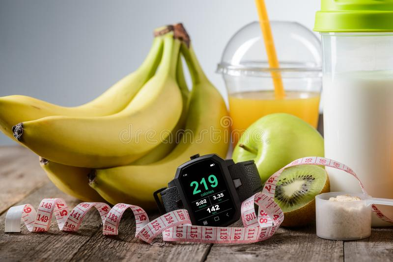 Non-caloric food for staying fit royalty free stock photo