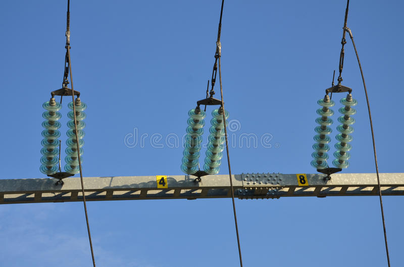 Non-conductors. Non-conductors in the 110kV substation royalty free stock photos