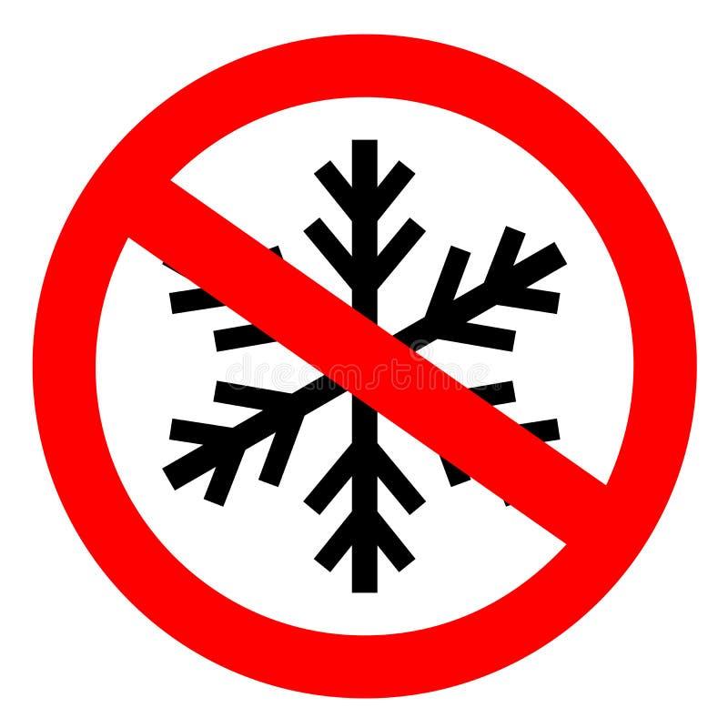 Non congeli il segno illustrazione di stock