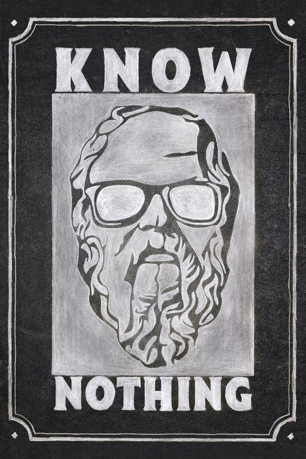 Non conosca niente Socrates fotografia stock