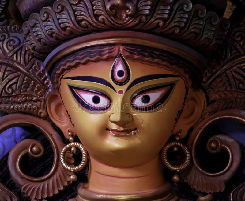 Non conventional Durga idol. Non Conventional Durga Idol of theme Durga Puja at kolkata in the year 2019 royalty free stock images