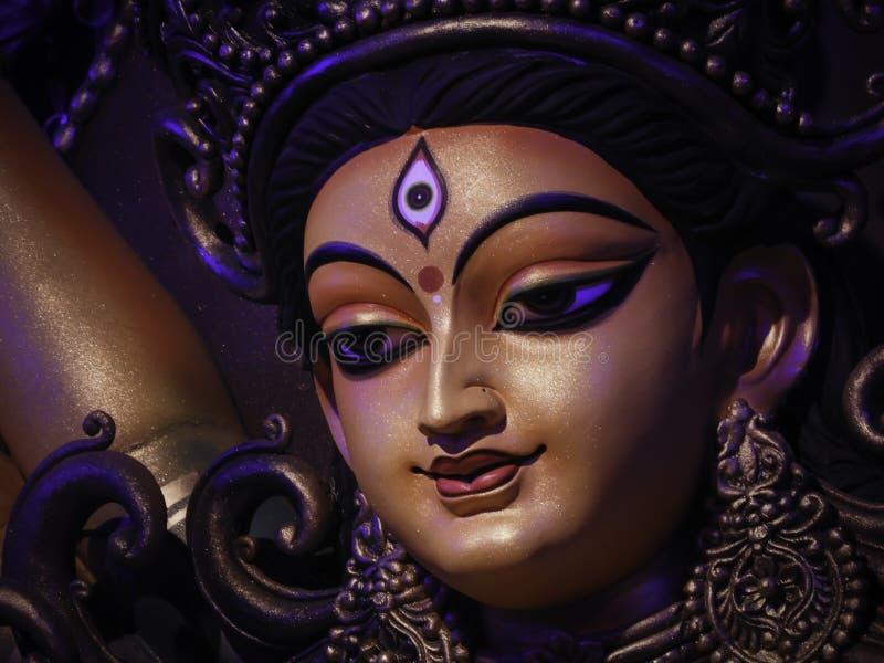 Non conventional Durga idol. Non Conventional Durga Idol of theme Durga Puja at kolkata in the year 2019 stock image