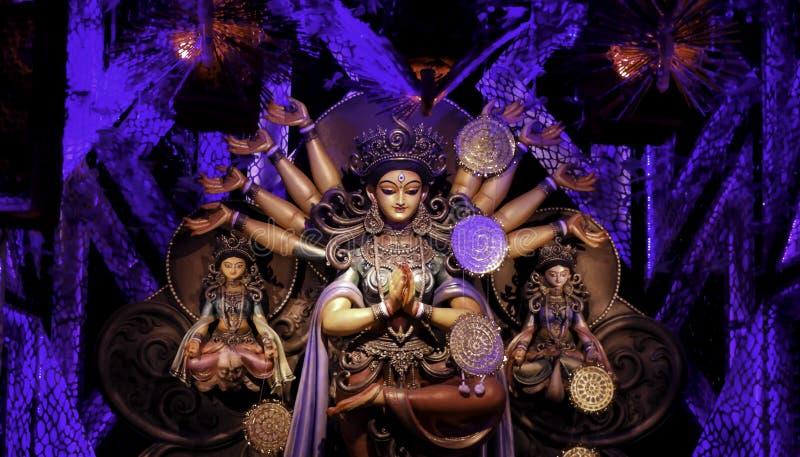 Non conventional Durga idol. Non Conventional Durga Idol of theme Durga Puja at kolkata in the year 2019 royalty free stock photos