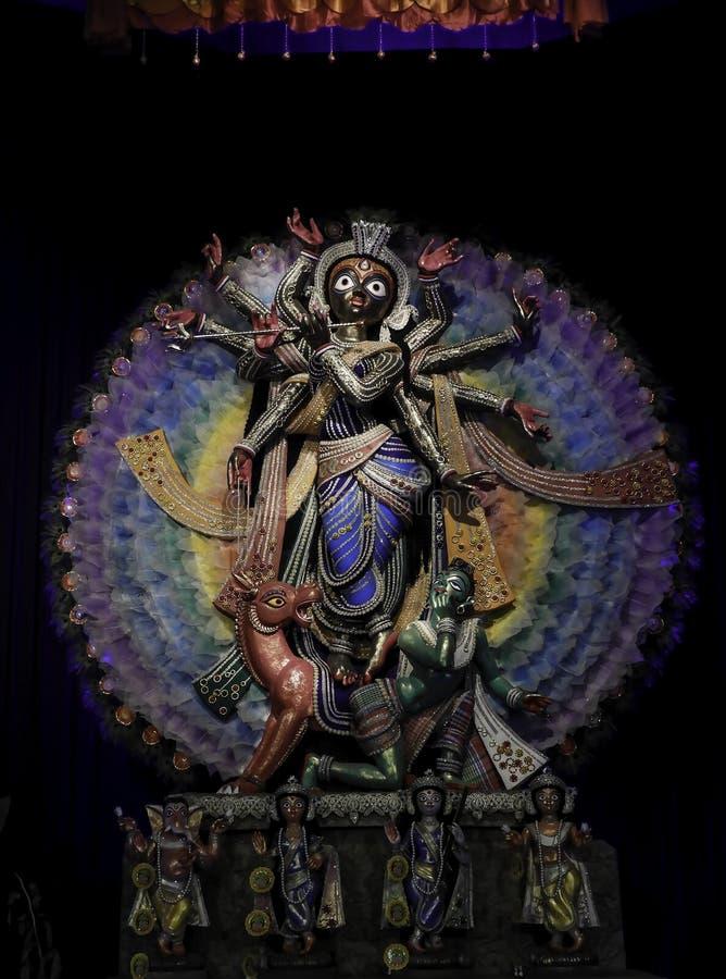 Non conventional Durga idol. Non Conventional Durga Idol of theme Durga Puja at kolkata in the year 2019 royalty free stock photo
