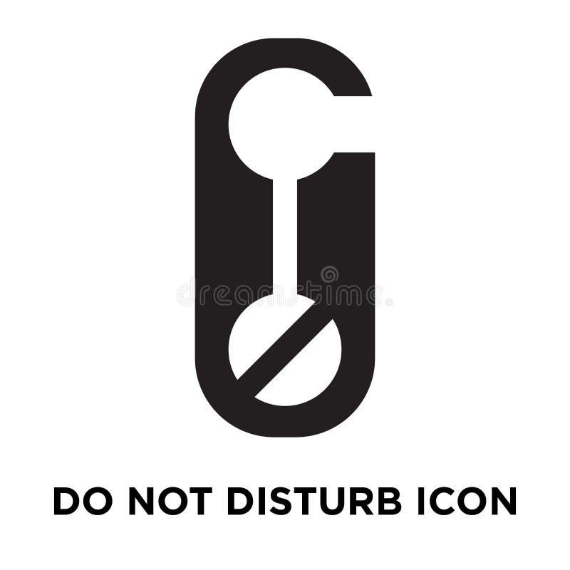 Non disturbi il vettore dell'icona isolato su fondo bianco, il logo co illustrazione di stock