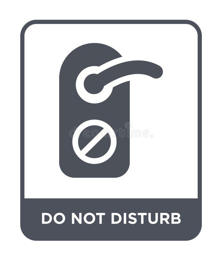 non disturbi l'icona nello stile d'avanguardia di progettazione Non disturbi l'icona isolata su fondo bianco non disturbi l'icona illustrazione vettoriale