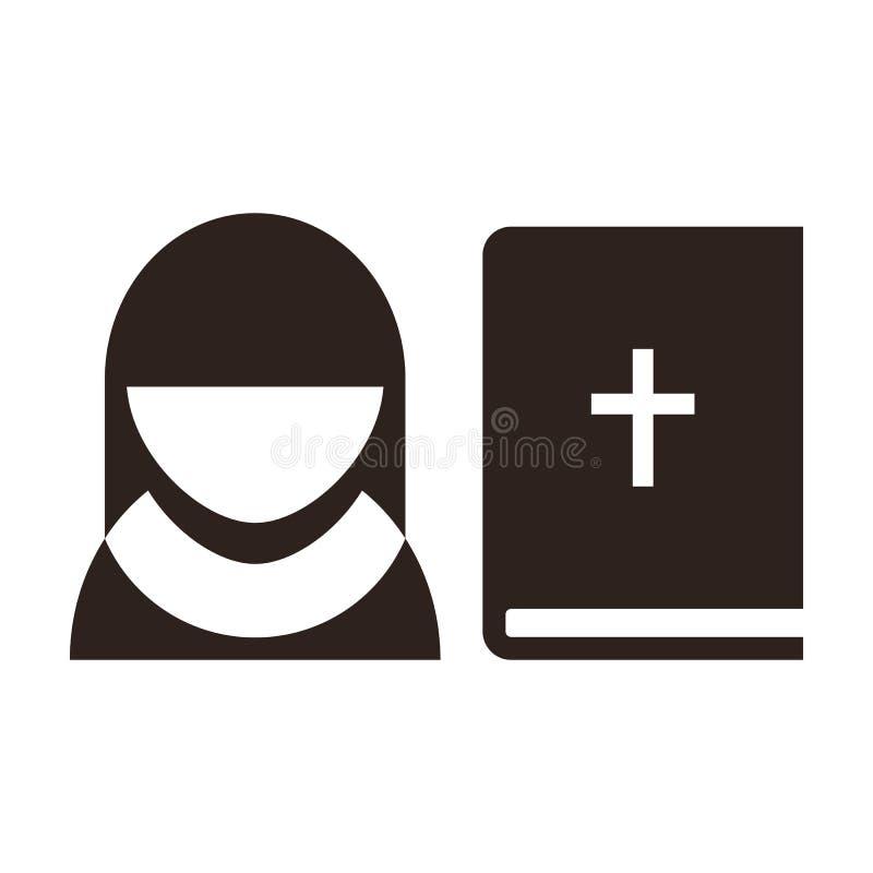 Non en bijbelpictogram royalty-vrije illustratie