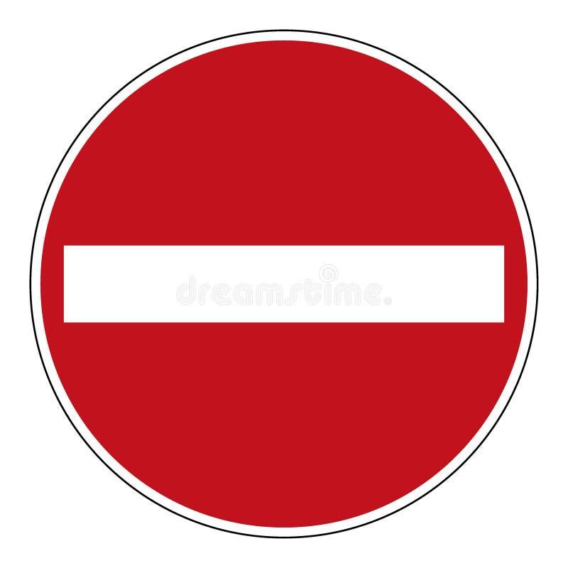 NON ENTRI nel segno illustrazione vettoriale