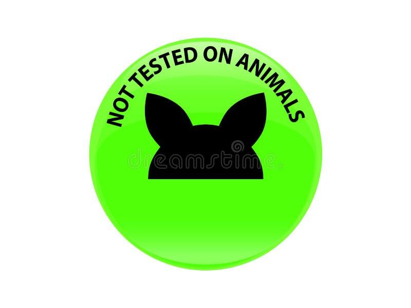 Non examiné sur l'icône de signe d'animaux Symbole non examiné photo stock