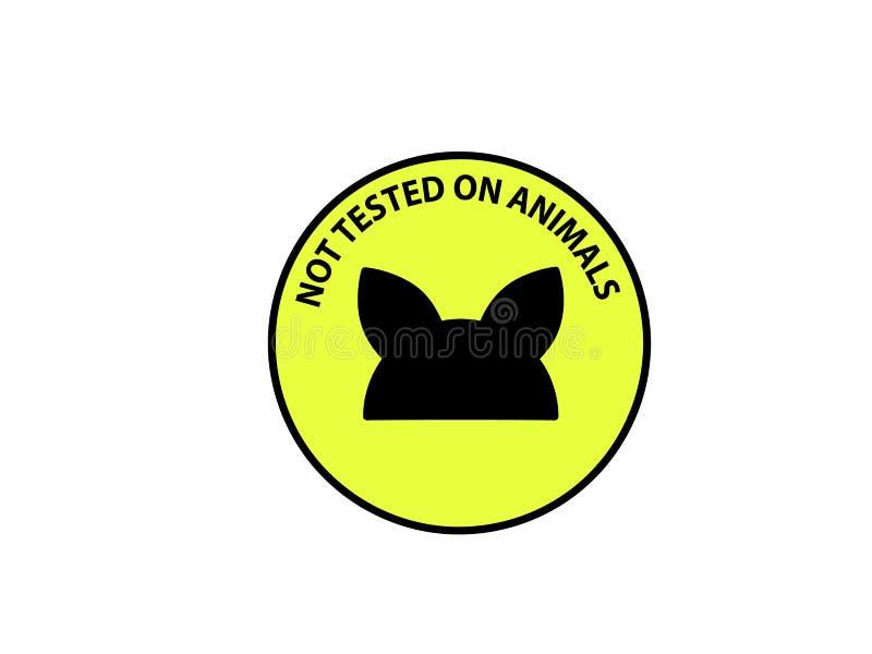 Non examiné sur l'icône de signe d'animaux Symbole non examiné Icône plate classique image stock