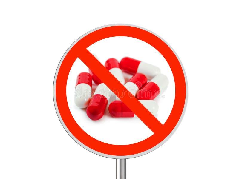 Non firmi pillole fotografia stock libera da diritti