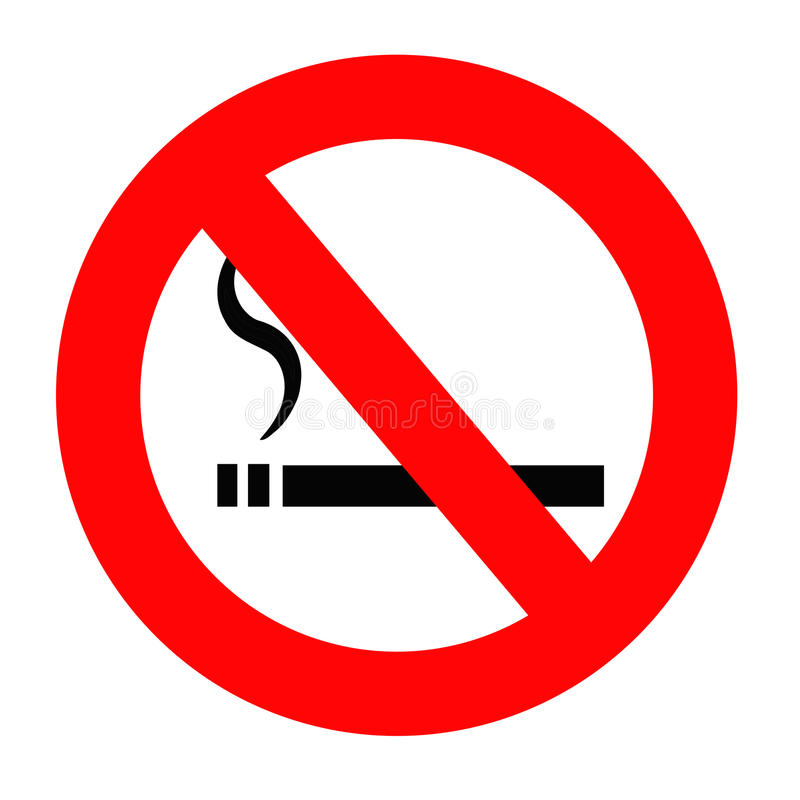 Non-fumeurs illustration stock