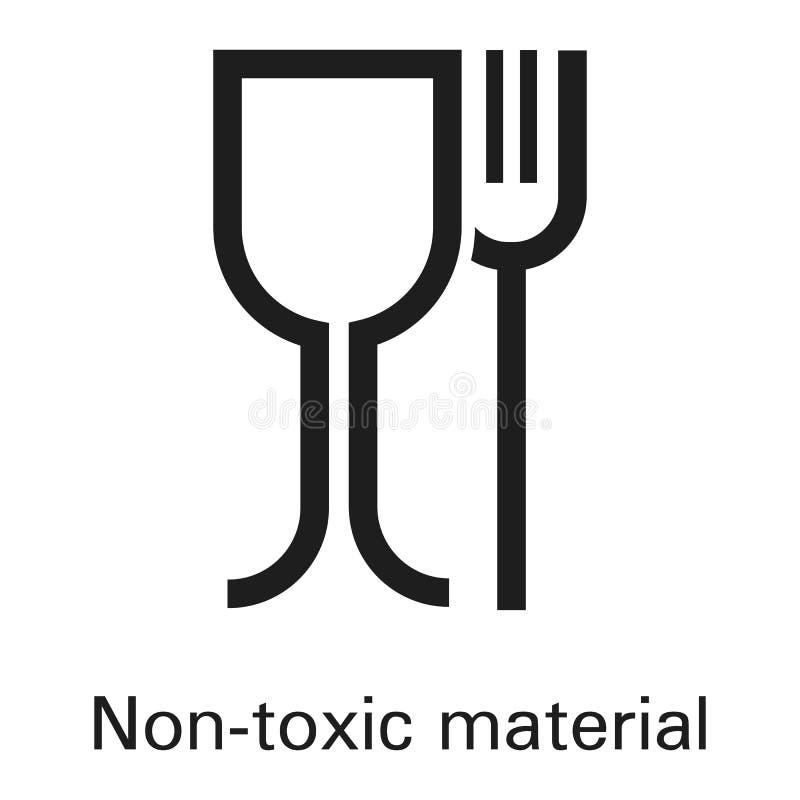 Non giftlig plast- materiell symbol, enkel stil royaltyfri illustrationer
