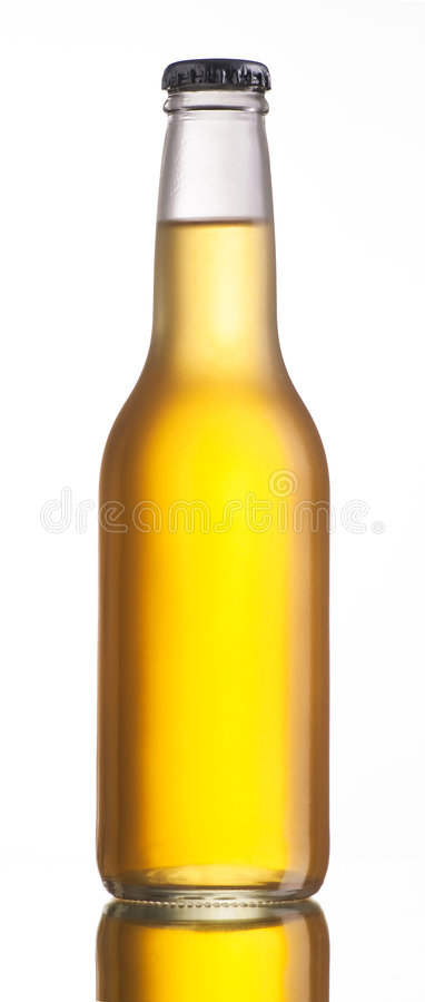 Download Non-glossy White Beer Bottle Stock Image - Image: 7152121