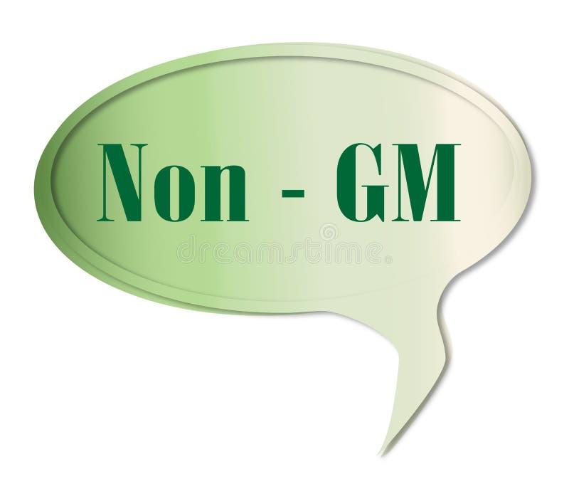 Non GM mowy bąbel ilustracji