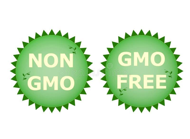 Non GMO. Two logos non gmo and gmo free vector illustration