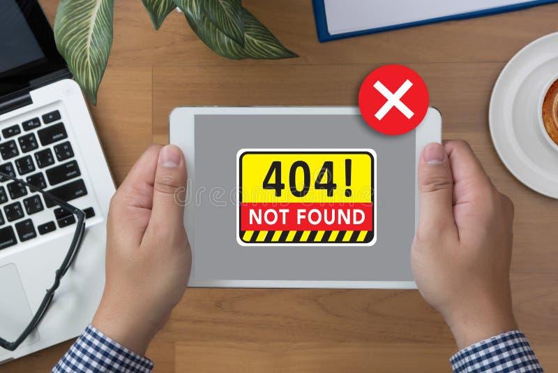 Non ha trovato il problema d'avvertimento di guasto dei 404 errori immagini stock libere da diritti
