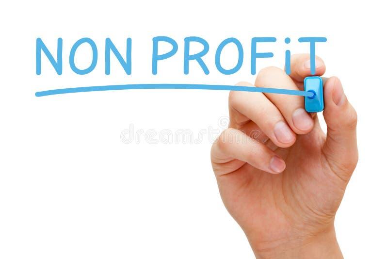 Non indicatore del blu di profitto fotografie stock libere da diritti