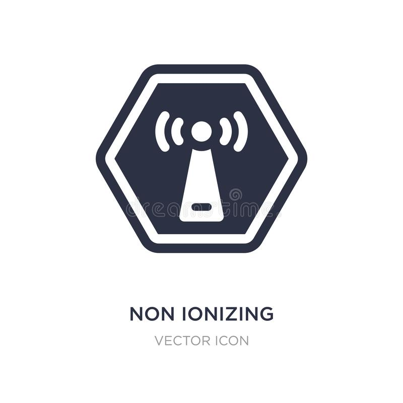 non ionizing radiation icon on white background. Simple element illustration from Health and medical concept stock illustration