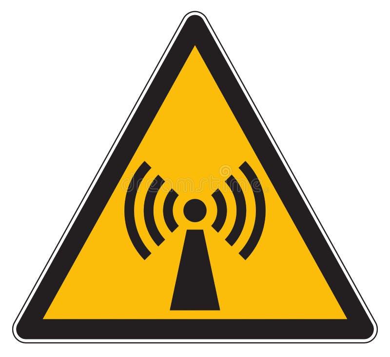 Non joniserande tecken för elektromagnetisk utstrålning vektor illustrationer
