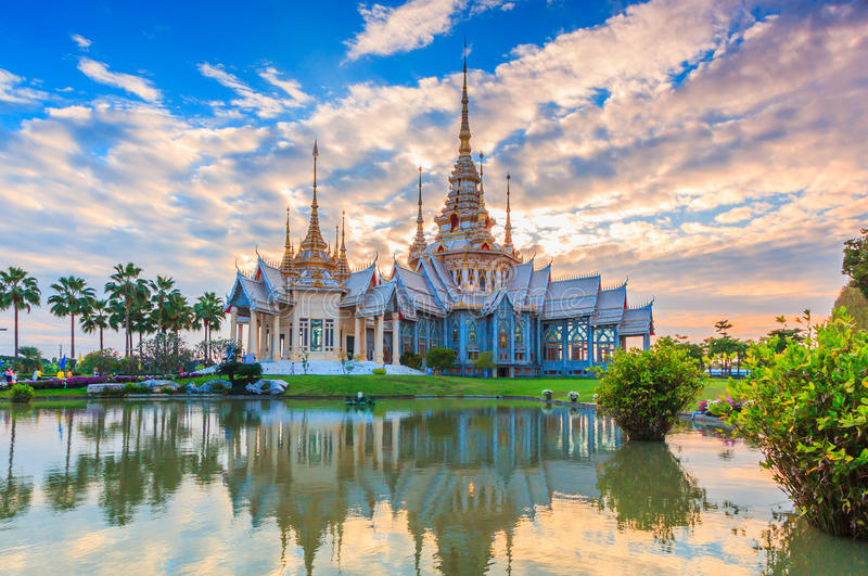 Non Khum temple, Thailand. Non Khum temple; The temple of Sondej Toh or Phra Buddhacharn Toh Phomarangsi in Na Khon Ratchasima province of Thailand royalty free stock photo