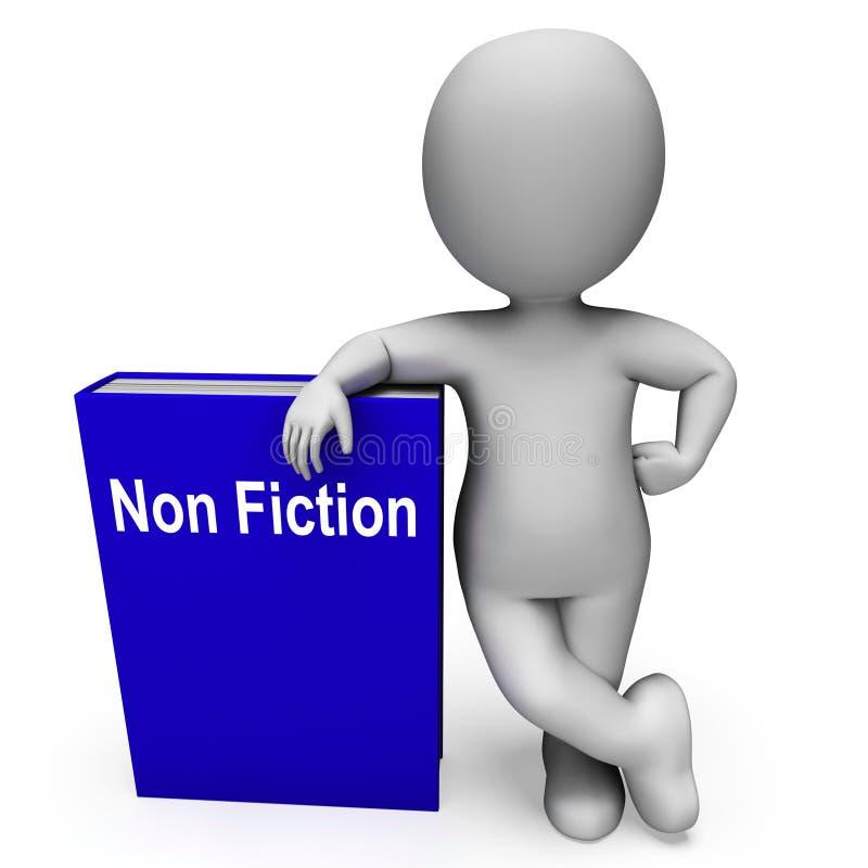 Non libro di romanzo e testo o fatti educativi di manifestazioni del carattere illustrazione vettoriale