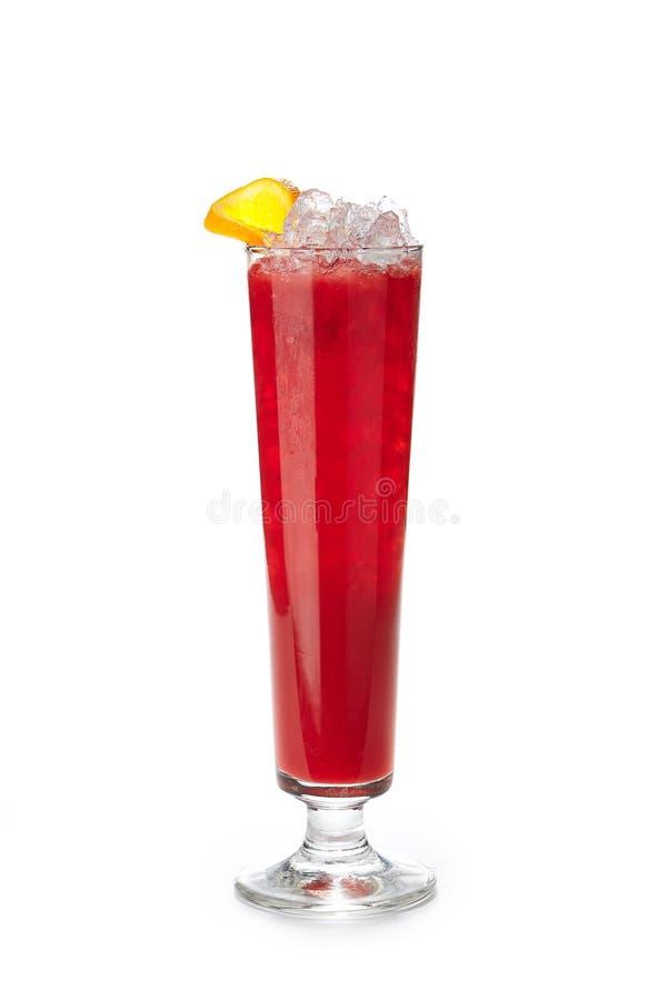 Non limonade d'alcool avec la pastèque, les baies et la glace d'isolement photo libre de droits
