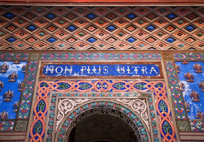 Non plus ultra corridoio del ` nel castello di Sammezzano, Italia fotografia stock libera da diritti