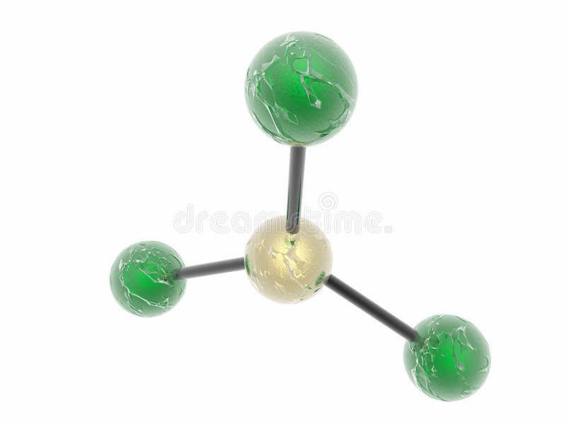 non polarnych molekuły ilustracja wektor