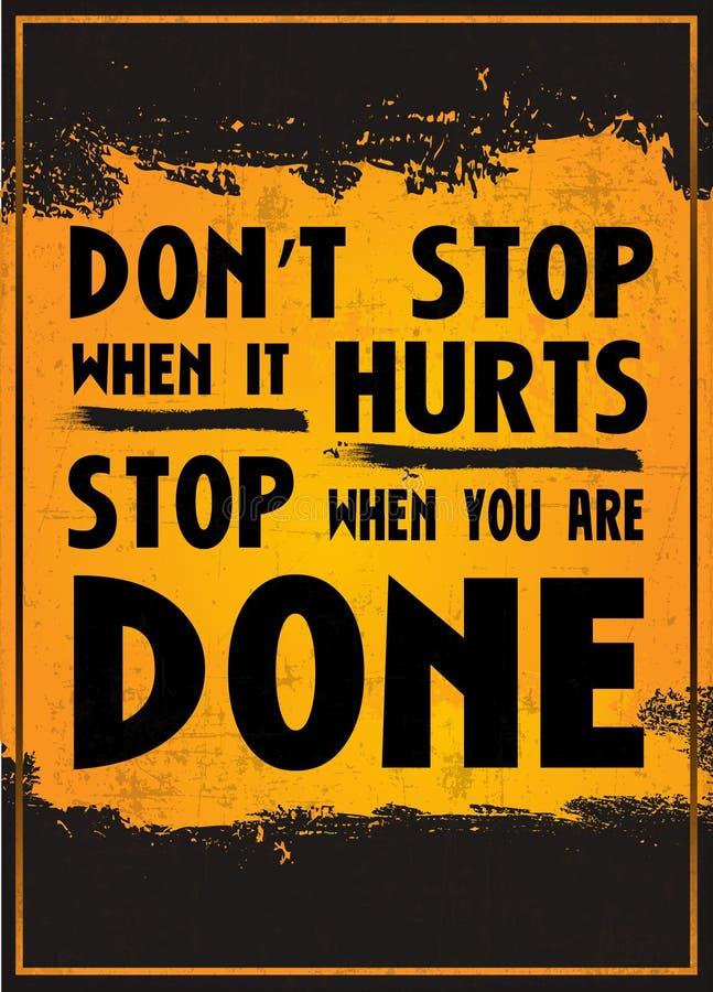 Non si fermi quando danneggia la fermata quando siete fatto illustrazione di stock