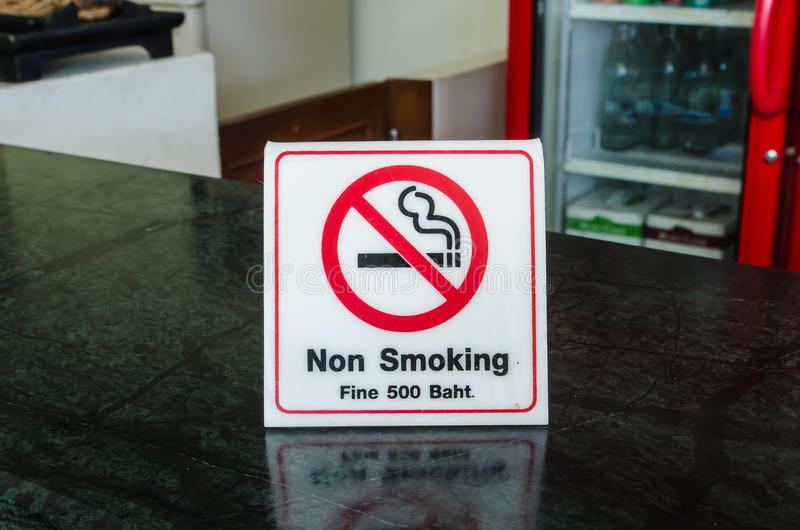 Non smoking. Icon on counter royalty free stock images