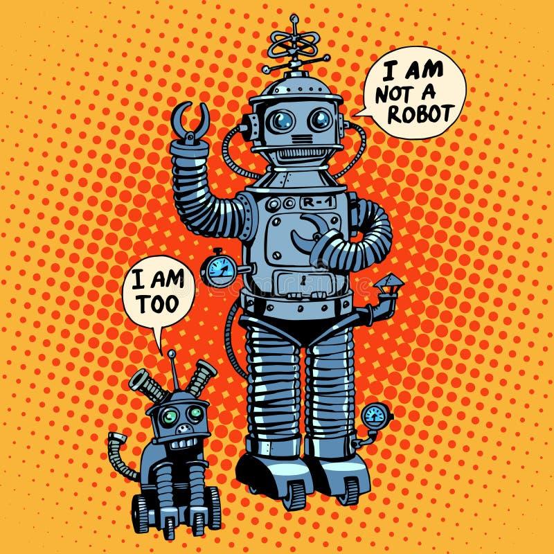 Non sono un robot ho detto la fantascienza futura del cane illustrazione di stock