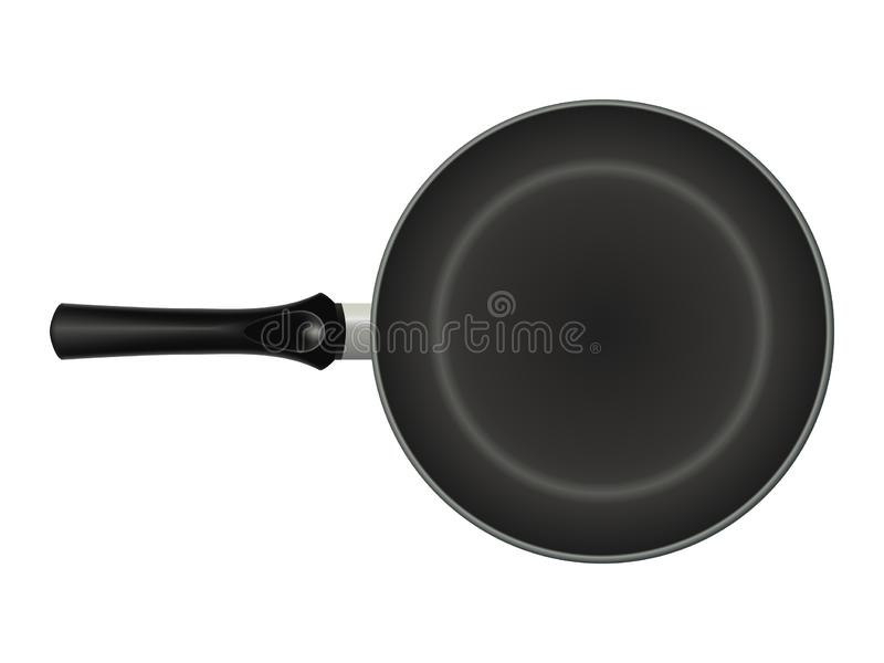 Non-stick frying pan. isolated image. realistic style. Vector illustration stock illustration
