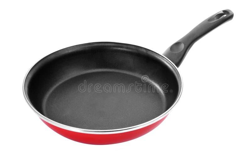 Non-stick frying pan. A non-stick frying pan on a white background stock image