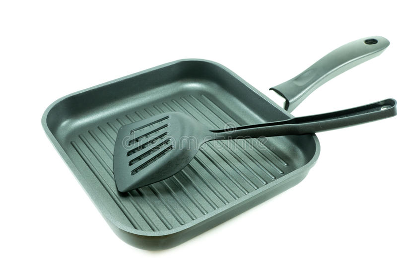 Download Non-Stick Grill Pan Isolated On White Background Stock Photo - Image of cooking, utensil: 39512524