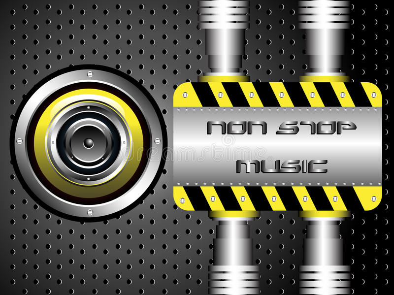 Download Non stop music stock vector. Image of holes, frequency - 24188896