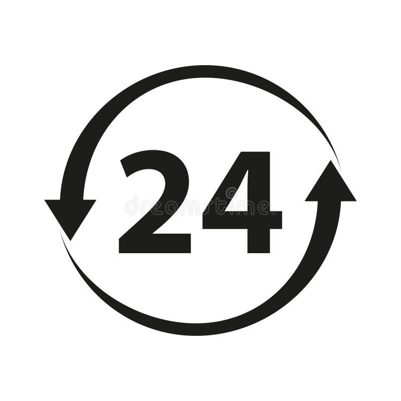 24 non stoppsymbol vektor illustrationer