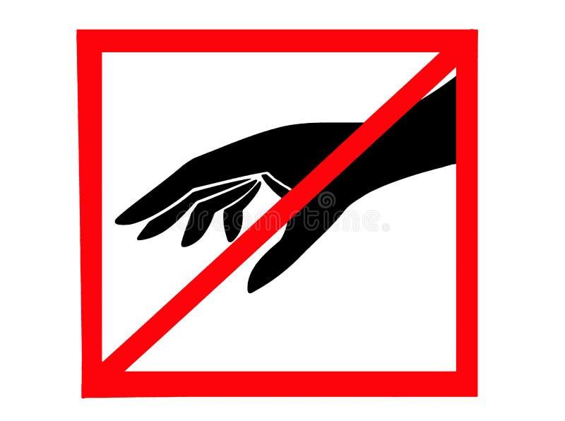 Non tocchi fotografia stock libera da diritti