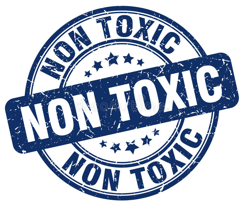 Non toksyczny błękita znaczek ilustracji