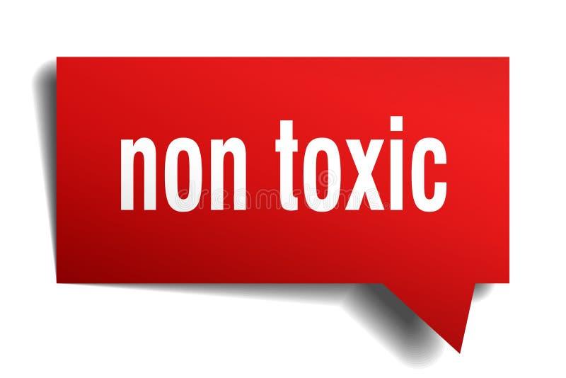 Non toksyczny czerwieni 3d mowy bąbel ilustracji