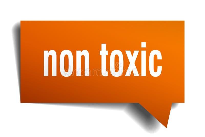 Non toksyczny pomarańcze 3d mowy bąbel royalty ilustracja