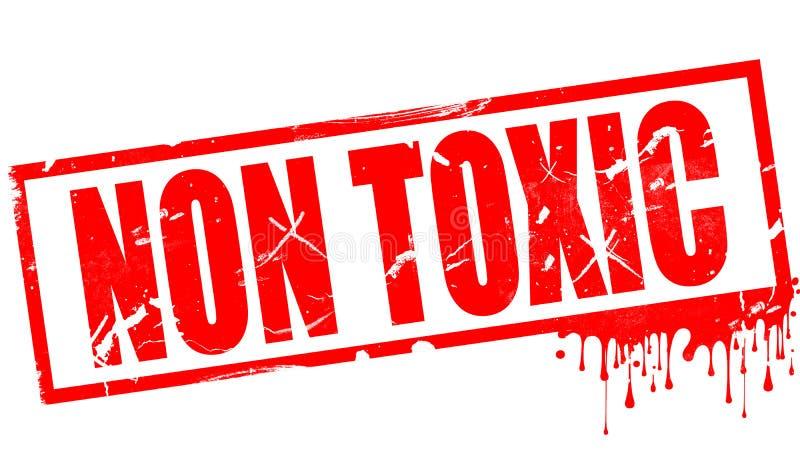 Non toksyczny słowo w czerwonym atramentu znaczku ilustracji