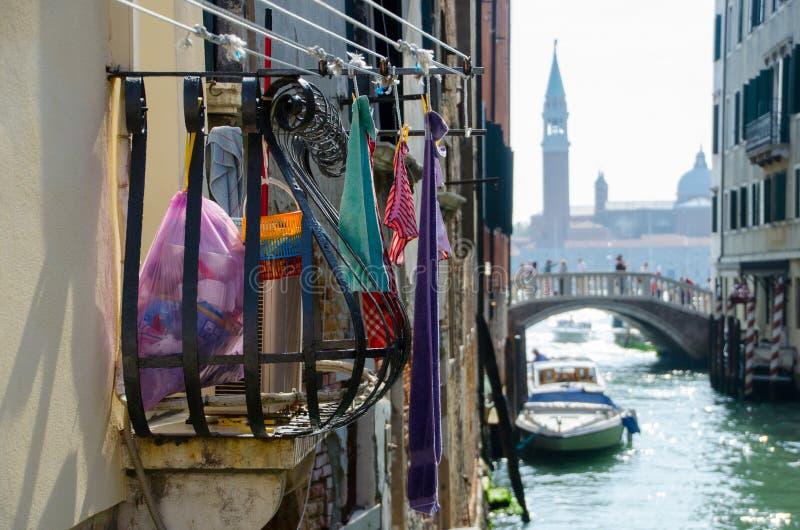 Non traditionell älskvärd sikt av Venedig fotografering för bildbyråer