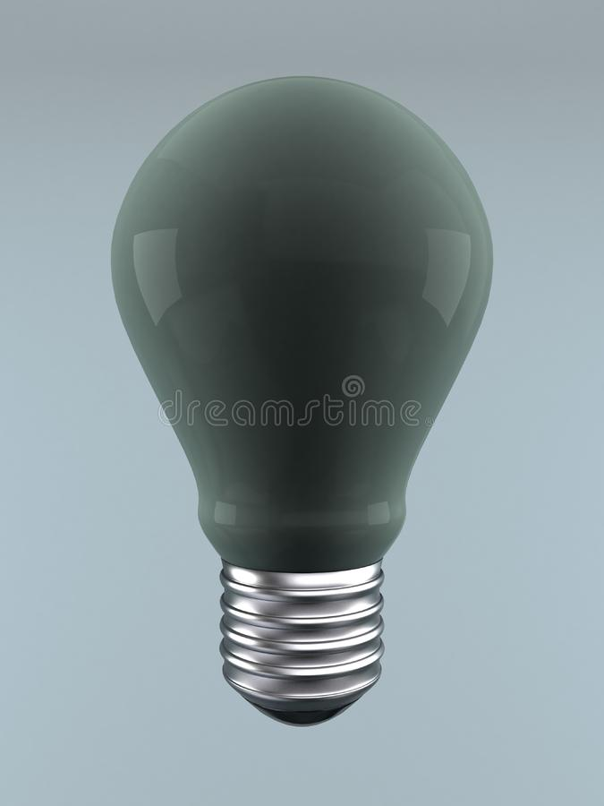 Non transparent light bulb stock image