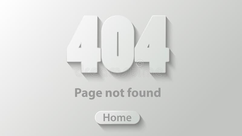 404 non trovati royalty illustrazione gratis