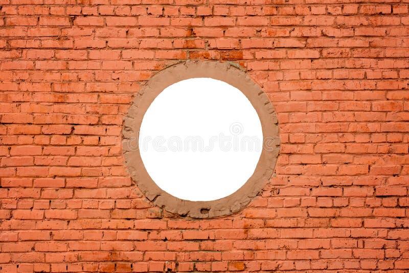 Non un nuovo muro di mattoni con rotondità fotografie stock libere da diritti