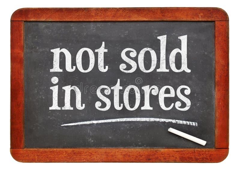 Non venduto nella commercializzazione dei depositi immagine stock
