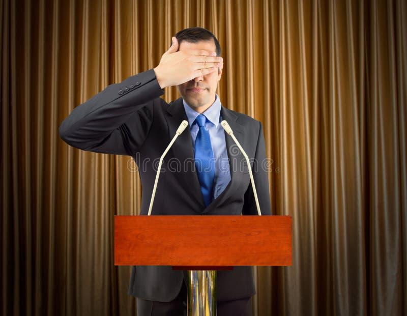 Non voglio vedere la verità fotografie stock libere da diritti