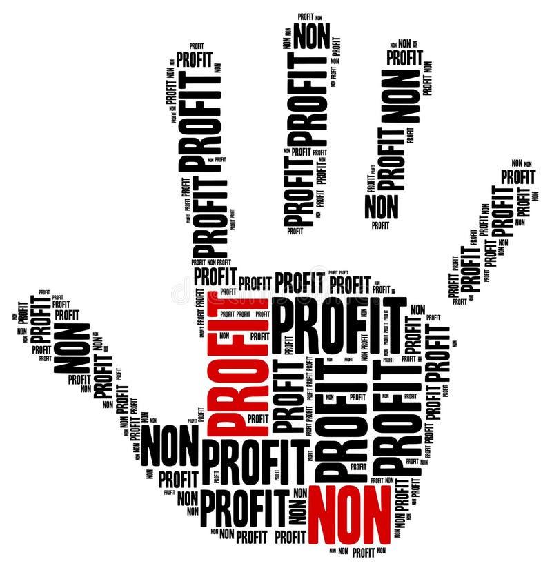 Non zysku biznes lub organizacja ilustracji