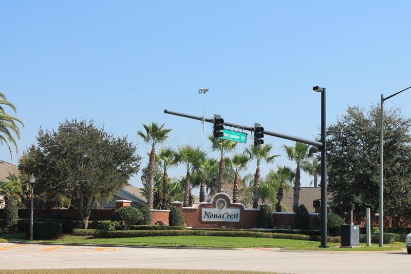 Nona Crest Neighborhood dans le lac Nona Orlando Florida image libre de droits